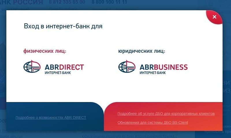 Личный кабинет Банк Россия (АБР)