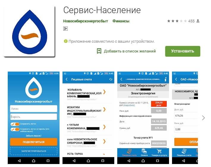 Личный кабинет Новосибирскэнергосбыт
