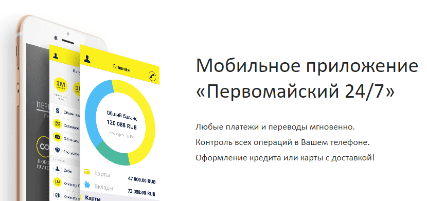 Первомайский Банк: вход в личный кабинет