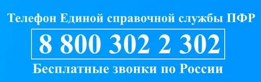 Горячая линия пенсионного фонда рф бесплатно телефон