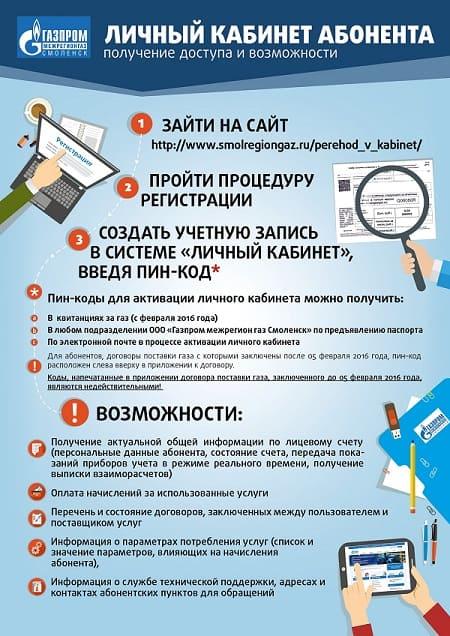 Личный кабинет Межрегионгаз Смоленск
