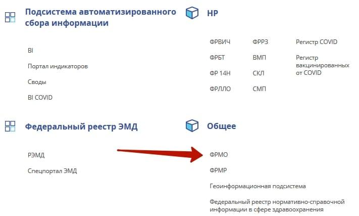 ФРМО - Федеральный Регистр Медицинских Организаций